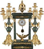 Набор:Часы+2 Подсвечника - Olympus Brass