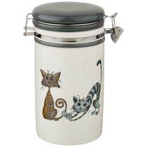Банка Для Сыпучих Продуктов Коллекция Озорные Коты 1000 мл 11x20 см - Hongda Ceramics