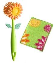 Щетка для посуды+губка FLOWER POWER* - Vigar