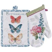 """Набор из варежки и прихватки Kay Dee Designs """"Цветы и Бабочки"""" 13X33см, 18X23см - Kay Dee Designs"""