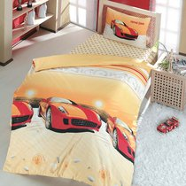 Постельное белье Ranforce Speed Time, подростковое, цвет красный, 1.5-спальный - Altinbasak Tekstil