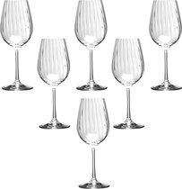 Набор бокалов для вина WATERFALL из 6 шт. 350 мл ВЫСОТА 22,5 см - Crystalex