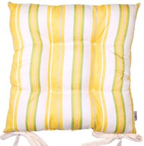 "Подушка на стул ""Yellow flowers"", 41х41 см, P705-7662/1, цвет желтый - Altali"