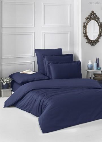 Постельное белье Karna Loft, однотонное, цвет темно-синий, размер 1.5-спальный - Karna (Bilge Tekstil)