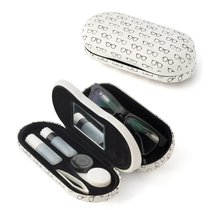 Футляр для очков и контактных линз Twin pattern белый, цвет белый - Balvi