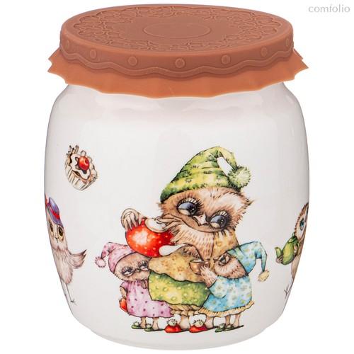 Банка С Силиконовой Крышкой Совушки 1000 мл - Shunxiang Porcelain