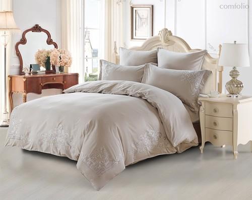 Постельное белье Karna Tera 300.TC, цвет серый, размер Евро - Karna (Bilge Tekstil)