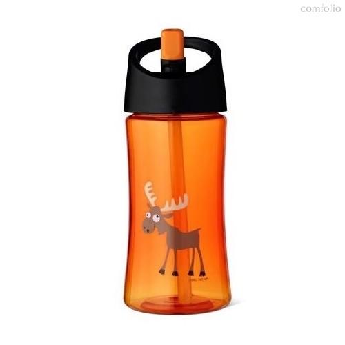 Детская бутылка для воды Carl Oscar Moose 0.35л оранжевая, цвет оранжевый - Carl Oscar