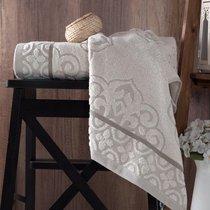 """Полотенце махровое """"KARNA"""" TUNUS 70x140 см 1/1, цвет серый, 70x140 - Bilge Tekstil"""