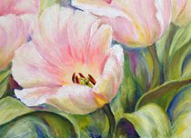 Подставки на пробке Альпийские тюльпаны 40х29 см(4шт) - Top Art Studio