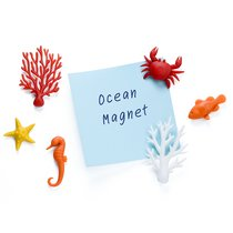 Набор из 6 магнитов для холодильника Ocean - Qualy