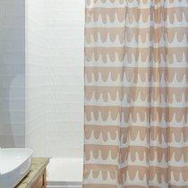 Штора для ванной Popple цвета пыльной розы Cuts&Pieces, 180х200 см - Tkano