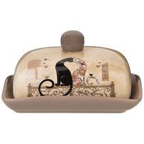 Масленка Парижские Коты 17x12x10 см - Huachen Ceramics