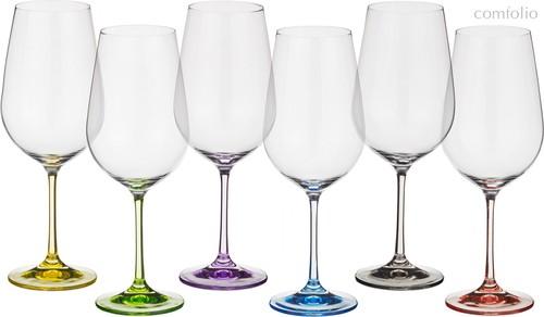 Набор бокалов для вина из 6 шт. RAINBOW 350 мл ВЫСОТА 22 см (КОР 8Набор.) - Crystalex