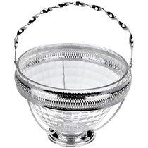 Ваза для фруктов Queen Anne 25х18см, стекло, сталь, посеребрение - Queen Anne