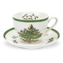 """Набор из 4 чашек чайных с блюдцем 200мл """"Рождественская ель"""" - Spode"""