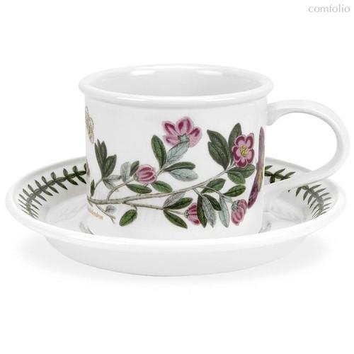 """Чашка для мокко с блюдцем Portmeirion """"Ботанический сад. Рододендрон"""" 100мл - Portmeirion"""
