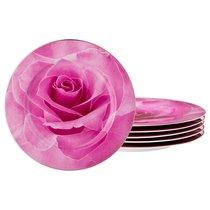 НАБОР ИЗ 6-ТИ ДЕСЕРТНЫХ ТАРЕЛОК ДИАМЕТР 20 см, цвет розовый, 20 см - Jinding