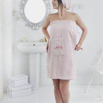 """Набор для сауны """"KARNA"""" женский махровый PERA 1/2, цвет розовый, 70x150 - Bilge Tekstil"""