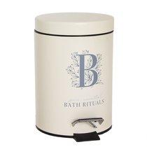 Ведро для мусора Bath Rituals с педалью 3л, цвет бежевый - D'casa