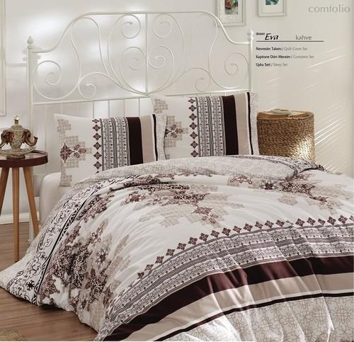 Постельное белье Ranforce Eva, цвет коричневый, размер 2-спальный - Karna (Bilge Tekstil)