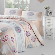 Постельное белье Ranforce Belin, цвет кремовый, размер Евро - Altinbasak Tekstil
