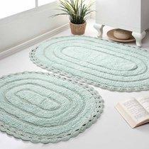 Набор кружевных ковриков Yana, цвет мятный - Bilge Tekstil