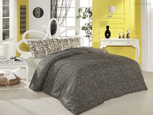 Постельное белье Ranforce Cassandra, цвет коричневый, 1.5-спальный - Altinbasak Tekstil