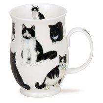 """Кружка Dunoon """"Черно-белые котики. Саффолк"""" 310мл - Dunoon"""