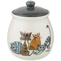 Банка Для Сыпучих Продуктов Озорные Коты 1100 мл 13x13x15 см - Hongda Ceramics