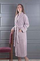 Домашний халат Karna Mora, цвет светло-сиреневый, L - Bilge Tekstil