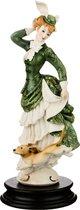 Статуэтка Дама С Собачкой Высота 25 см - P.N.Ceramics