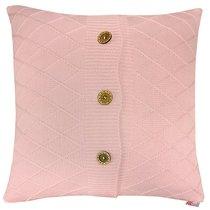 "Вязаный чехол для подушки ""Rose rhomb"", 45х45 см, 02-V418/1, цвет розовый - Altali"