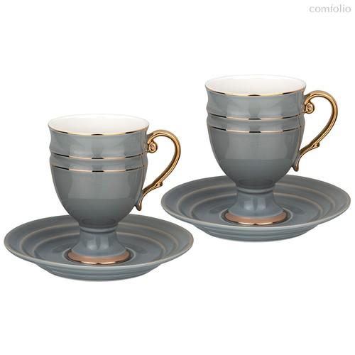 Чайный Набор Lefard На 2 Персоны 4 Пр. 250 мл Серый - Rongshengyuan