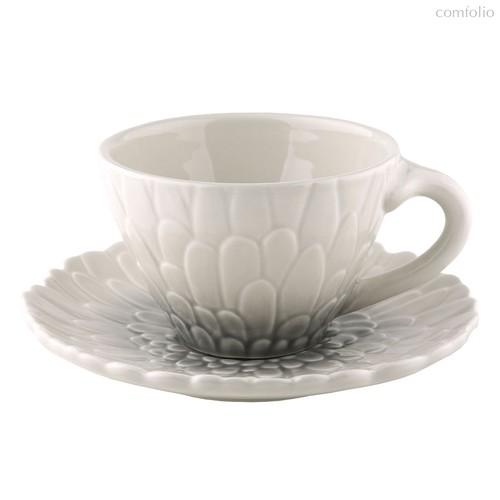 Чайная пара 300мл Королева Эстева блан - Top Art Studio