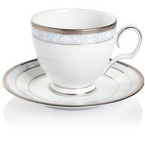"Чашка чайная с блюдцем Noritake ""Хэмпшир,платиновый кант"" 250мл - Noritake"