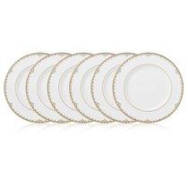 Набор тарелок акцентных Lenox Федеральный,золотой кант 23см, фарфор, 6шт