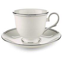 """Чашка чайная 180мл """"Федеральный, платиновый кант"""", цвет белый/серебряный - Lenox"""