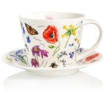 """Чашка чайная с блюдцем Dunoon 350мл """"Полевые цветы. Айлей"""" - Dunoon"""