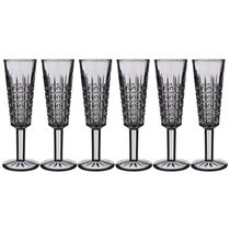 Бокалы для шампанского Графика 6 шт. Серия Muza Color 150 мл Высота 20 см - Dalian