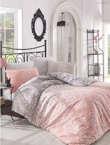 Постельное белье Ranforce Vizyon, цвет абрикосовый, размер Евро - Altinbasak Tekstil