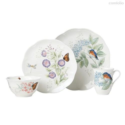 """Сервиз чайно-столовый Lenox """"Бабочки на лугу. Птицы. Синяя птица"""" на 4 персоны 16 предметов - Lenox"""