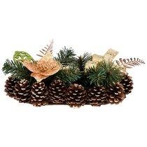 Подсвечник Золотой Декорированный На 1 Свечу - Polite Crafts&Gifts