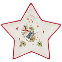 Блюдо Зимняя Забава 25x25x3,5 см - Huachen Ceramics