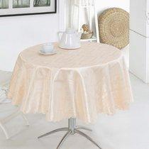 Скатерть Karna жаккард Dertsiz, цвет золотой, размер d 160 - Karna (Bilge Tekstil)