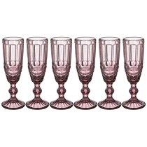 Бокалы для шампанского Серпентина 6 шт. 150мл Серия Muza Color Высота 20 см, цвет розовый - Honkong Maple