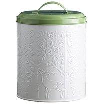 Контейнер для пищевых отходов In The Forest белый-зеленый - Mason Cash