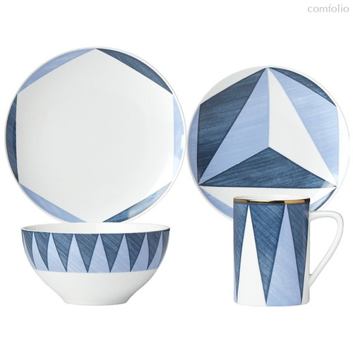 "Сервиз чайно-столовый Lenox ""Аззурро. Треугольники"" (Лука Андрисани) 1/4 - Lenox"