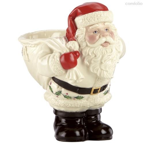 """Чаша для конфет Lenox """"Новогодние праздники.Дед Мороз с мешком"""" 15см - Lenox"""