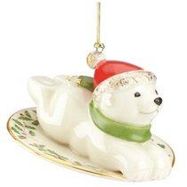 """Украшение новогоднее Lenox """"Полярный мишка"""" 8см (Юбилейная коллекция) - Lenox"""